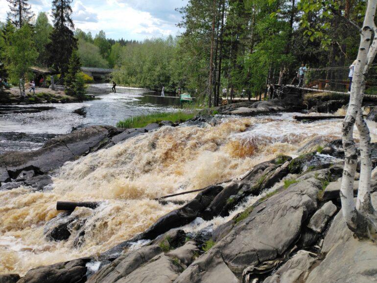 Водопад Ахвенкоски как добраться