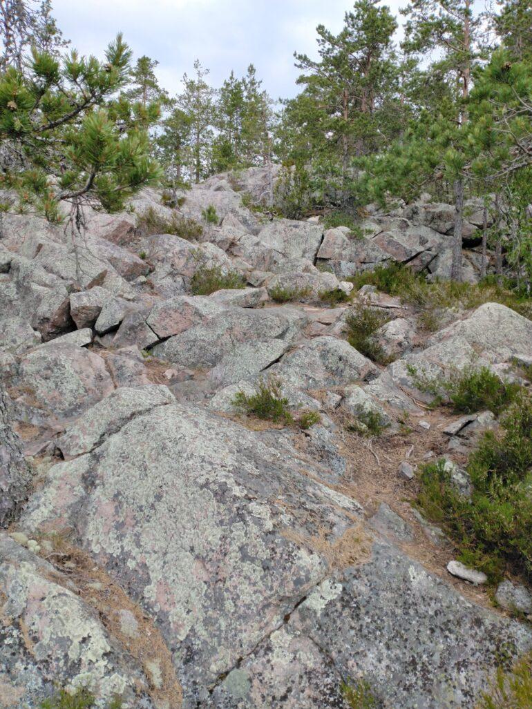Подъем на смотровую площадку скалы Койонсаари