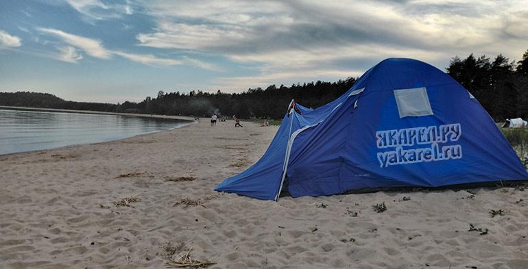Отдых с палатками на Койонсаари